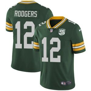 Green Bay Packers Aaron Rodgers 100 Season Jersey